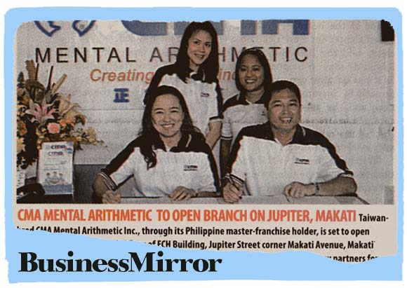 CMA Mental Arithmetic to open branch on Jupiter, Makati