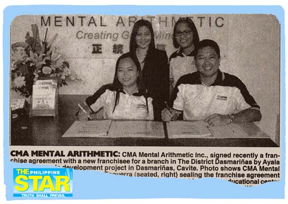 CMA Mental Arithmetic opens in The District, Dasmariñas, Cavite