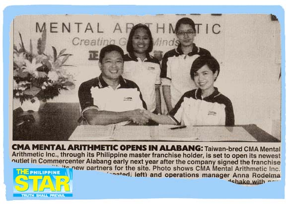 CMA Mental Arithmetic opens in Alabang
